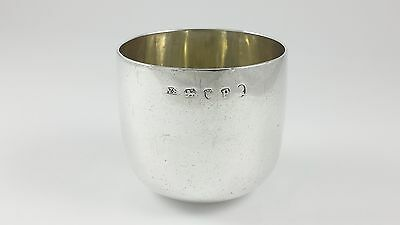 Antique George Iii Sterling Silver Tumbler Cup - William Stephenson 1790