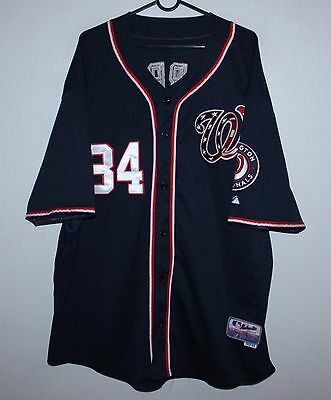 Washington Nationals baseball shirt jersey #34 Harper Size 56