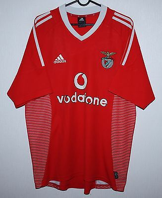 Benfica Portugal home shirt 02/03 Adidas Size L