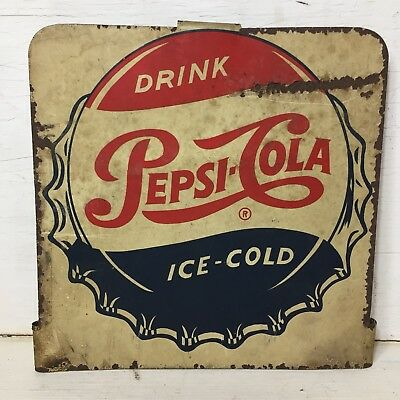 Vintage 1950s Pepsi Rack Sign Very Rare Original