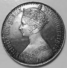 1847 GOTHIC CROWN SOUVENIR COIN  collectors item :)