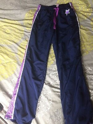 Justice Gymnast Wind Pants Size 14