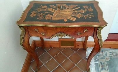 Antique French Marquetry Ormolu Mounted Writing Table