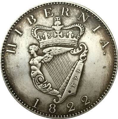 1822 Ireland English Government Hibernia Gothic Crown Souvenir Coin George Iv