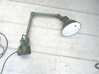 Vintage angle poise lamp retro industrial light wall mounted