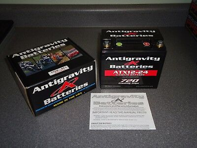 New Antigravity Batteries Battery Lightweight Lithium YTX12-24 L 24-Cell Racing