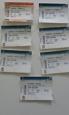 All Liverpool home ticket stubs from 2004-5 champions league
