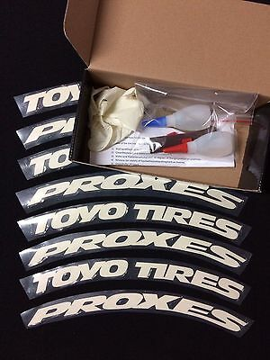 """RUBBER TIRE LETTERS STICKERS - TOYO TIRES- 1 inches 15"""" to 19'' Wheels (4 pcs)"""