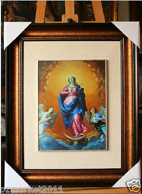 Catholic Church Portrait Jesus Cross Christian Blessed Cloth Frame Decoration R