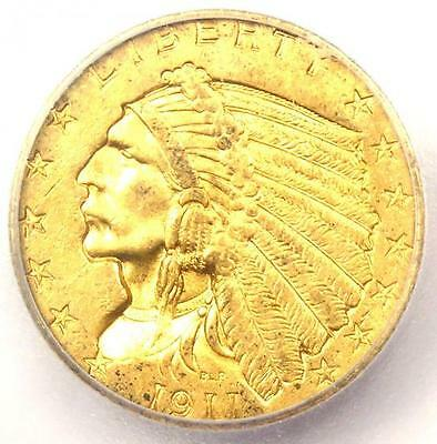 1911-D Indian Gold Quarter Eagle $2.50 Strong - Certified ICG MS62 (BU UNC)!