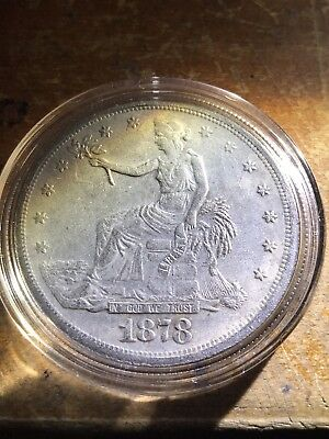 1878-S $1 Trade Dollar Silver Dollar Key Date, No Res, from family collection