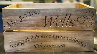 Personalised Wooden Wedding Crate/Box Hand Made