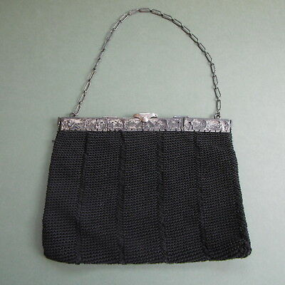 BEAUTIFUL ANTIQUE Art Deco Continental DUTCH EVENING Dress BAG....c1905-15