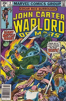 John Carter Warlord of Mars #9 (Feb 1978, Marvel) FN-