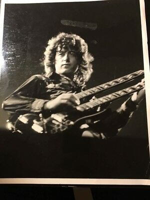 Ultra rare authentic Jimmy Page photograph photo Led Zeppelin