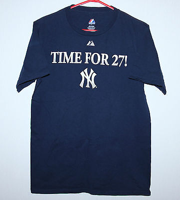 New York Yankees baseball cotton shirt World Series Champions Size S