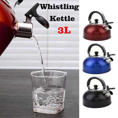 3L Stainless Steel Lightweight Whistling Kettle Camping Hiking Outdoors