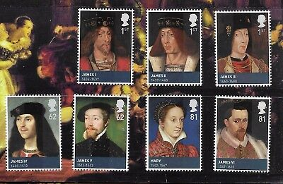 GB 2010 KINGS AND QUEENS (3rd ISSUE) HOUSE OF STEWART SG 3046-52 SET 7 MNH.