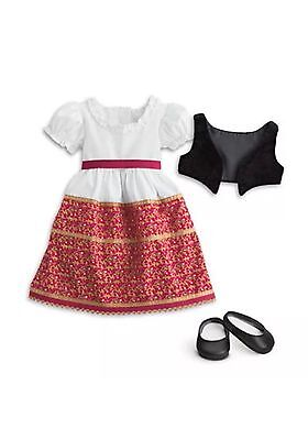 """NEW American Girl Josefina's Dress & Vest Outfit 18"""" Doll Fast Free Shipping!"""