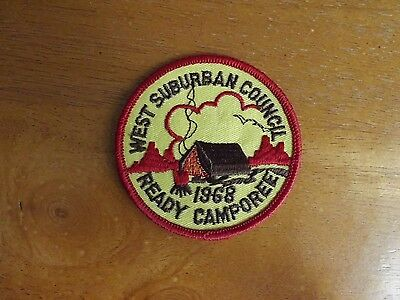 West Suburban Council Ready Camporee 1968 Patch - UNUSED
