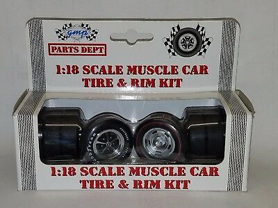 1/18 Gmp Parts Department Muscle Car Tire & Rim Kit Part No. 9006