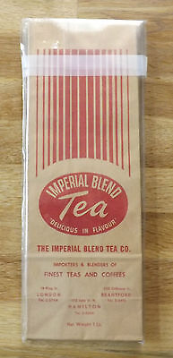 Vintage Imperial Tea Blend UNUSED Paper Tea Packages FIVE Red and Blue in Lot
