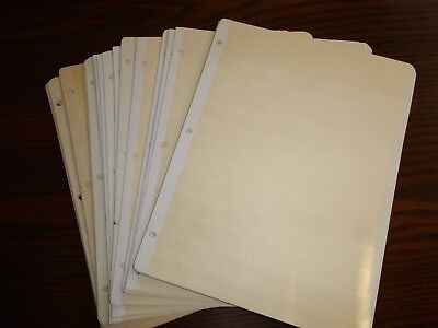 25--Yes Twenty Five--Lightly Used Manilla Stock Sheets