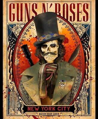Guns N Roses Slash Poster Msg Nyc  2017 Ltd Of 300 Arian Buhler Lithograph