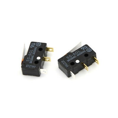 2Pcs SS-5GL Micro Limit Switch Com-NC-NO End Stop Switch For 3D Printer US