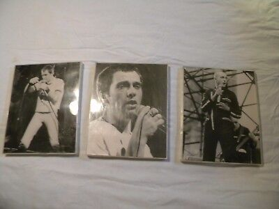 """Peter Gabriel Pictures Lot of 3 in Block Acrylic Frames 11"""" x 17"""" Performing"""
