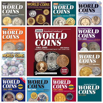 2017 KRAUSE World COINS 20th Century 13 Catalogs in PDF Format -One-day shipping