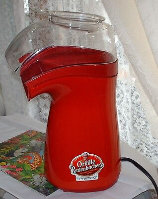 Presto Orville Redenbacher's Popcorn Popper Coffee Bean Dryer  1240 Watts Red