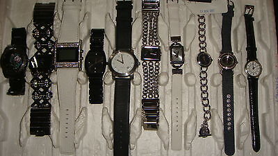 Trade Only Job Lot Of 10 X  Mixed Names  Watches 100% Gen <<,//