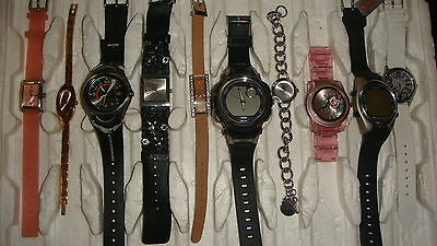 Trade Only Job Lot Of 10 X  Mixed Names  Watches 100% Gen <<,///