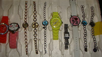 Trade Only Job Lot Of 10 X  Mixed Names  Watches 100% Gen <<,/