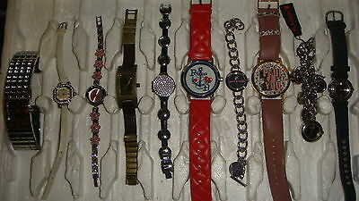 Trade Only Job Lot Of 10 X  Mixed Names  Watches 100% Gen <<,////