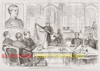 West Point Academy Black History 1880s Antique Print & Article