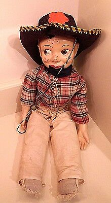 Vintage 1950's Howdy Doody Puppet Doll Composite