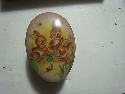 """Beautiful Large Tin Egg Made In England The Metal Box Co, Mansfield 5 5/8"""" T"""