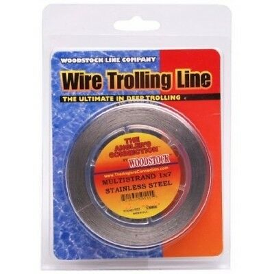 (90m/20kg (.018 DIA), Brown Camo) - Woodstock 1x7 Stainless Steel Fishing Wire