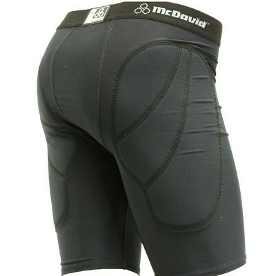 McDavid 7211C Men's Padded Compression Sliding Shorts Black Small [Misc.]