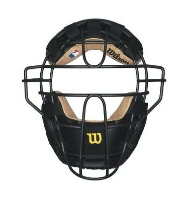(Black) - Wilson Steel Adult Baseball/Softball Umpire Mask. Shipping Included