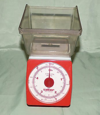 Salter Weightmate Vintage Red Kitchen Scales Boxed Retro 1960's 1970's