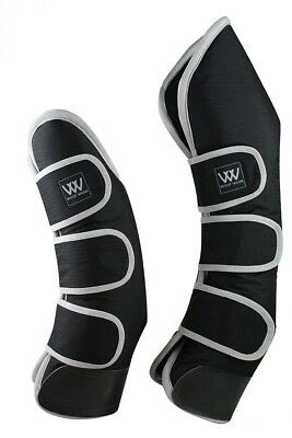 (Pony cm, Black/Silver) - Woof Wear Travel Boots. Shipping Included