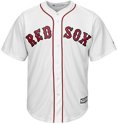 (Medium) - Youth Boston Red Sox Cool Base White Tackle Twill Baseball Jersey