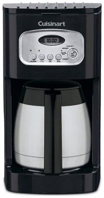 Black Stainless 10 Cup Charcoal Water Filter Programmable Automatic Coffee Maker