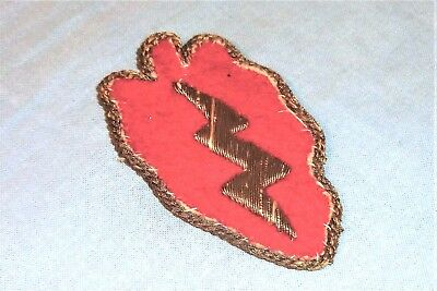 Bullion German Made 25th Infantry Division Hand Embroidered patch