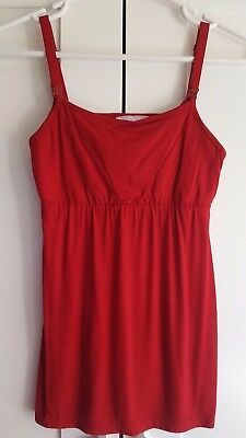 Maternity Nursing Top Red  Size 8 & 10 Available Select your Size