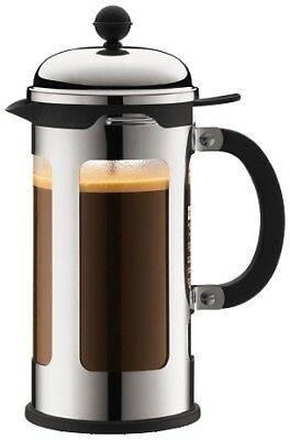 Bodum French Press - Chambord 8 Cup Coffee Press - Stainless Steel