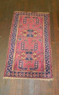 Antique rug Heriz Serapi Karajeh Persian carpet runner 2'4'' x 4'3""